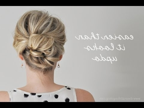 Easier Than It Looks Updo – Youtube With Regard To Current Quick Easy Updos For Long Thick Hair (View 5 of 15)