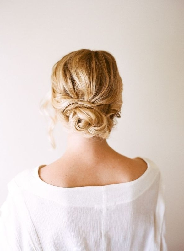 Easy And Beautiful Diy Low Bun Hairstyle – Weddingomania Within Most Current Updo Low Bun Hairstyles (View 10 of 15)