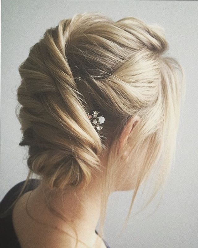 Easy And Pretty Chignon Buns Hairstyles You'll Love To Try Inside Most Popular Blonde Updo Hairstyles (View 9 of 15)