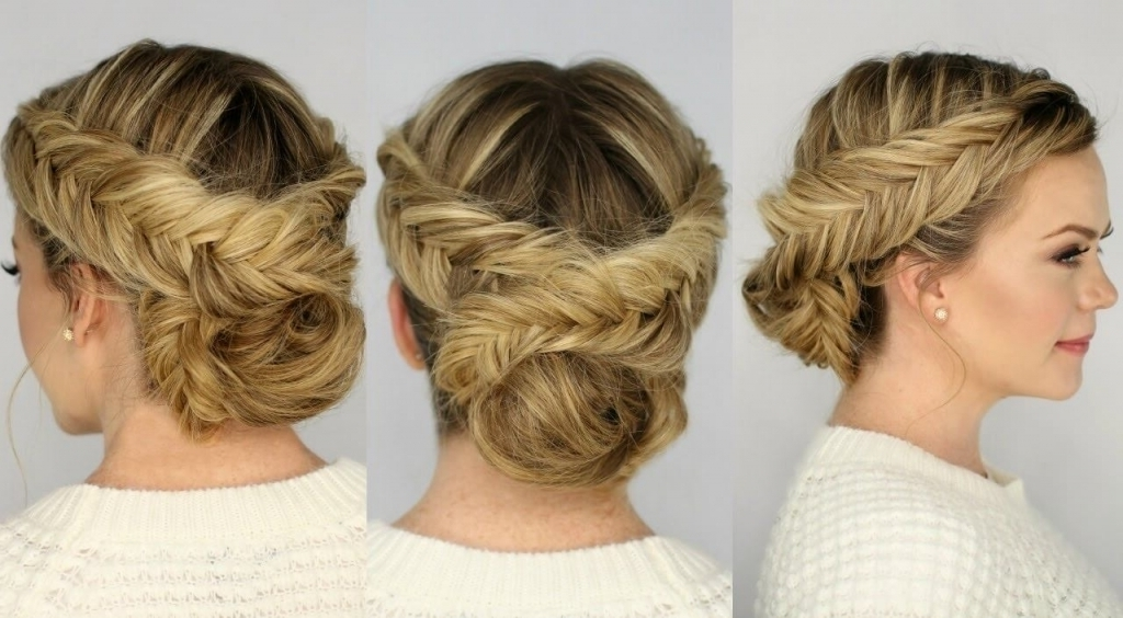 View Photos Of Quick Braided Updo Hairstyles Showing 1 Of 15 Photos