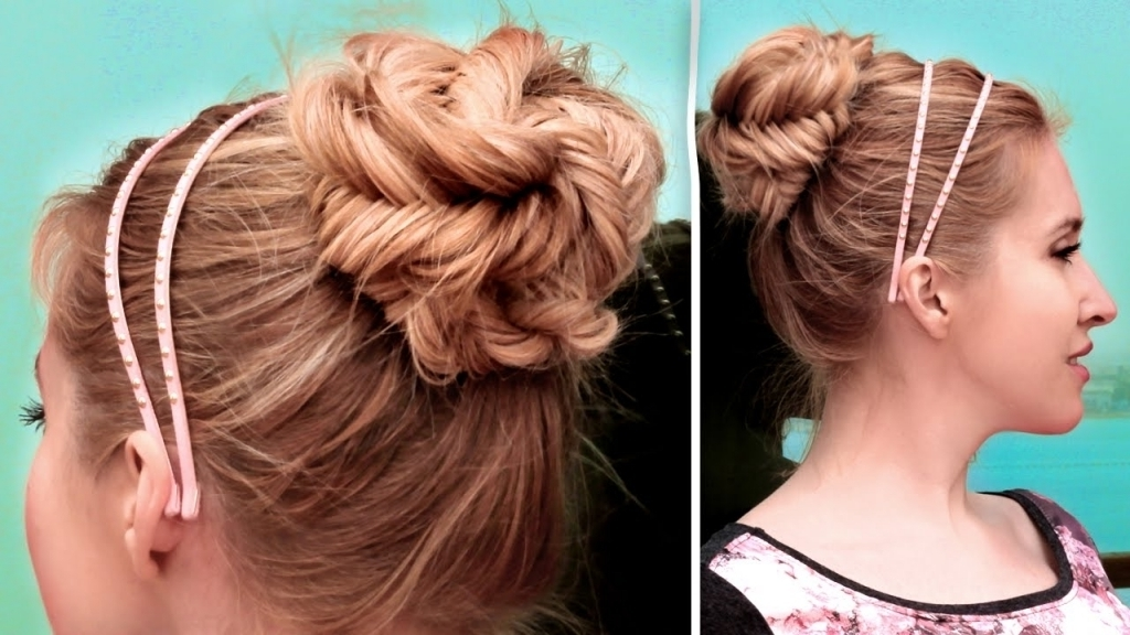Easy Braid Updo Hairstyles Fishtail Braided Updo Hairstyle Cute For Most Recent Quick Braided Updo Hairstyles (View 7 of 15)