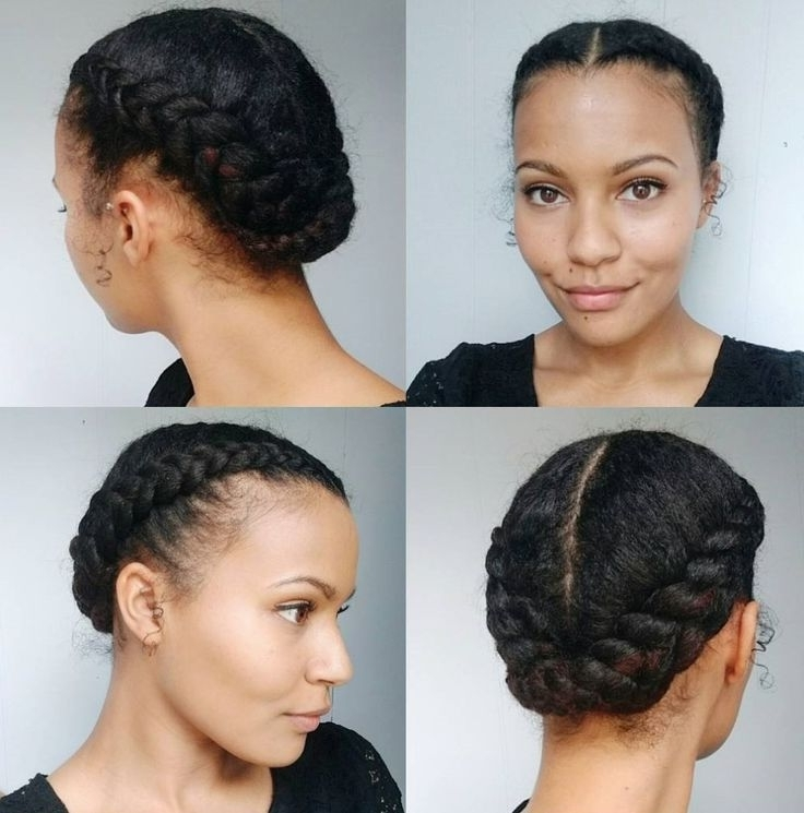Easy Braided Hairstyles For Natural Black Hair Lovely 50 Updo With Regard To Current Natural Black Updo Hairstyles (View 12 of 15)