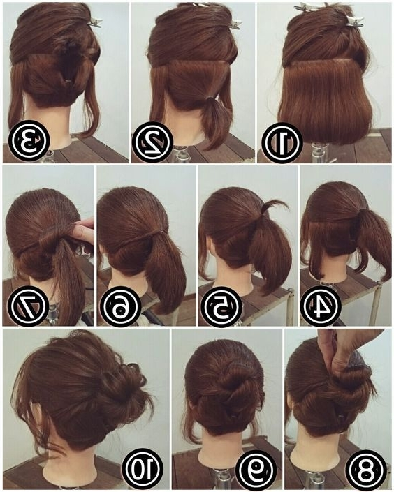 Easy Bun Hairstyle For Short Hair | Makeup Mania | State Of Mane With Regard To Most Current Cute Updos For Short Hair (View 15 of 15)