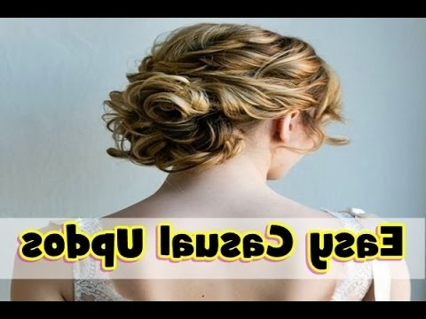 Easy Casual Updo Hairstyles For Medium Length Hair – Youtube Regarding Latest Easy Casual Updo Hairstyles For Thin Hair (View 12 of 15)