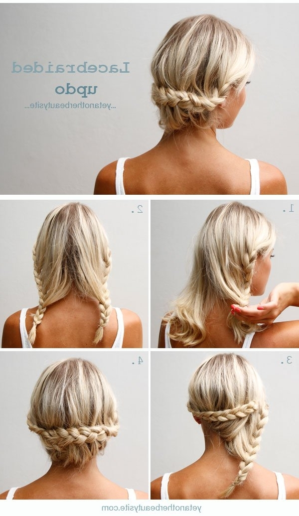 Easy Diy Tutorials For Glamorous And Cute Hairstyle Intended For Most Recent Easy Hair Updos For Medium Length Hair (View 8 of 15)