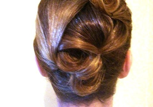 Easy French Twist Updo For Long Hair |  Short Hair Styled Into With Most Popular French Twist Updo Hairstyles For Short Hair (View 7 of 15)