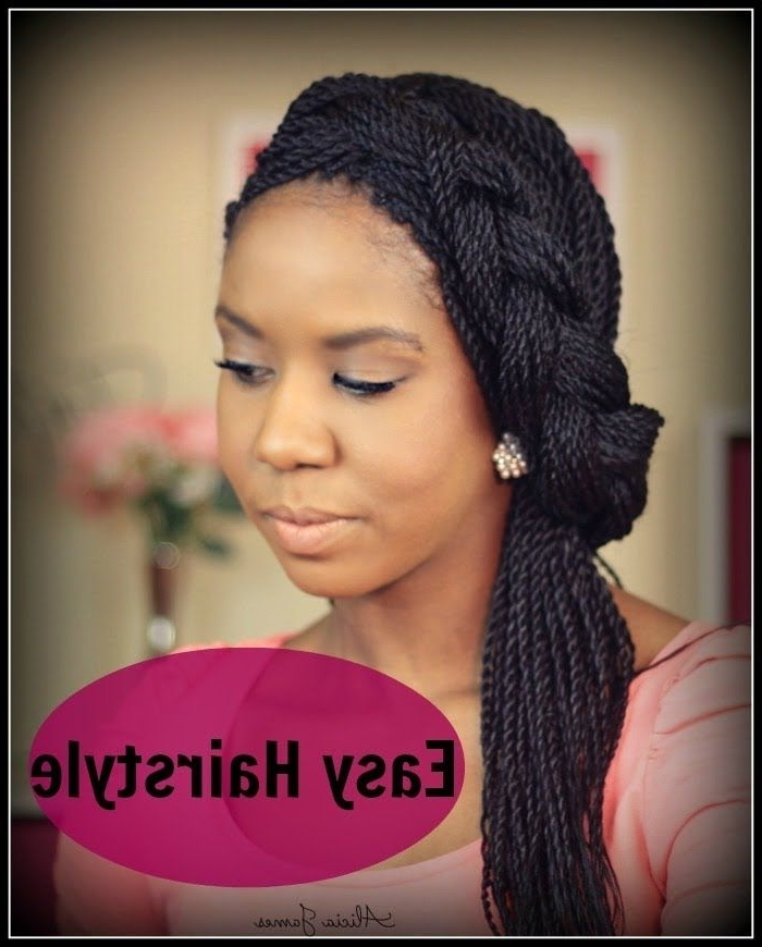 Easy Hairstyle ? Spring ? – Half Updo With Braid – Senegalese Regarding Recent Senegalese Twist Styles Updo Hairstyles (View 8 of 15)