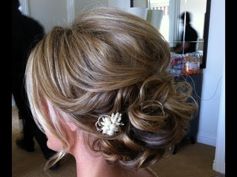 Easy Hairstyle – For Medium Long Hair | Prom & Wedding Hairstyle Within Best And Newest Wedding Updos Shoulder Length Hairstyles (View 7 of 15)