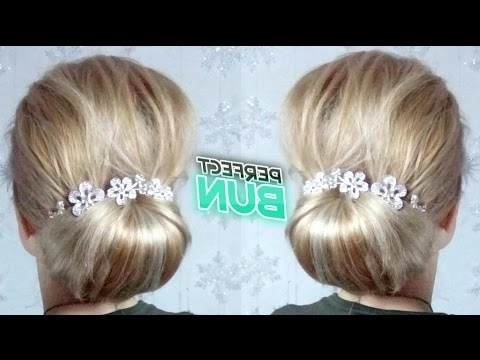 Easy Hairstyle Perfect Low Bun Updo | Awesome Hairstyles – Youtube Pertaining To Most Up To Date Easy Low Bun Updo Hairstyles (View 10 of 15)