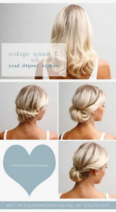 Easy Hairstyle Tutorials For Medium Length Hair | Foto & Video With Regarding Current Easy And Cute Updos For Medium Length Hair (View 2 of 15)