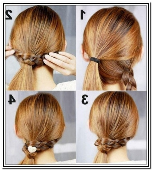 Easy Hairstyles For Medium Length Hair – 2017 Creative Hairstyle For Current Easy Updo Hairstyles For Medium Length Hair (View 8 of 15)
