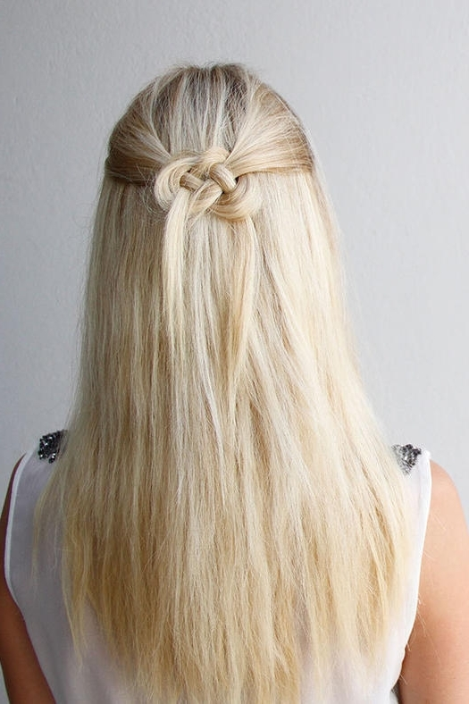 Easy Half Up, Half Down Hairstyles To Rock For Any Occasion | More Inside Most Recent Straight Half Updo Hairstyles (View 5 of 15)