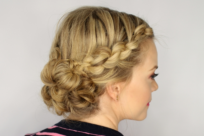 Easy Knotted Updo In Most Up To Date Knot Updo Hairstyles (View 3 of 15)