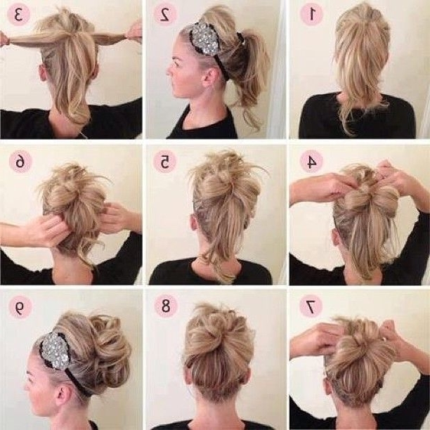 Easy Stepstep Updo #diy #hair #updo Wow My Hair Would Not For Recent Quick Hair Updo Hairstyles (View 10 of 15)