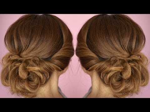 Easy Summer Twist Updo Hair Tutorial – Youtube Within Most Recently Twist Updo Hairstyles (View 6 of 15)