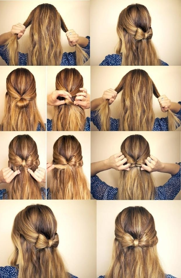 Easy To Do Down Hairstyles | Hairstyles | Pinterest | Fashion Diva For Latest Easy Half Updo Hairstyles (View 12 of 15)