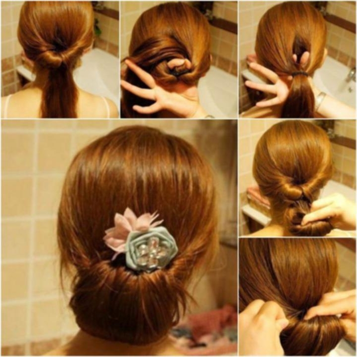 Easy To Do Hairstyles For Medium Length Hair – New Hairstyle Ideas Intended For Newest Easy At Home Updos For Long Hair (View 9 of 15)