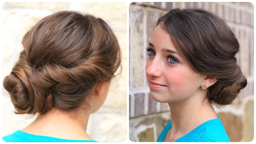 Easy Twist Updo | Prom Hairstyles | Cute Girls Hairstyles Throughout Most Recent Teenage Updo Hairstyles (View 8 of 15)