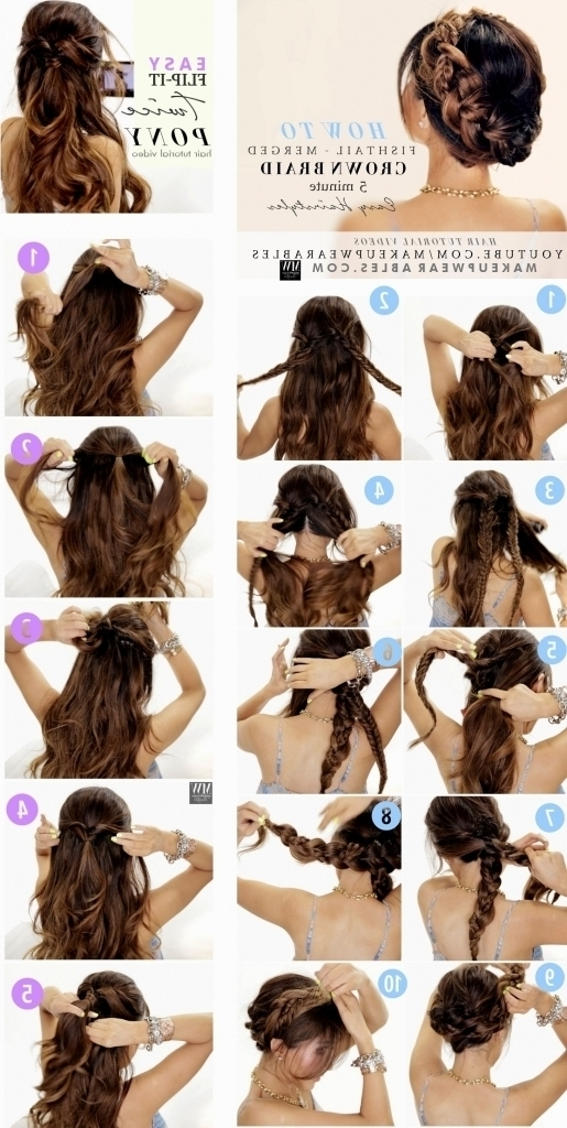 Easy Updo Hairstyles For Long Hair Stepstep Wedding Hairstyles Intended For Most Recent Easiest Updo Hairstyles For Long Hair (View 7 of 15)