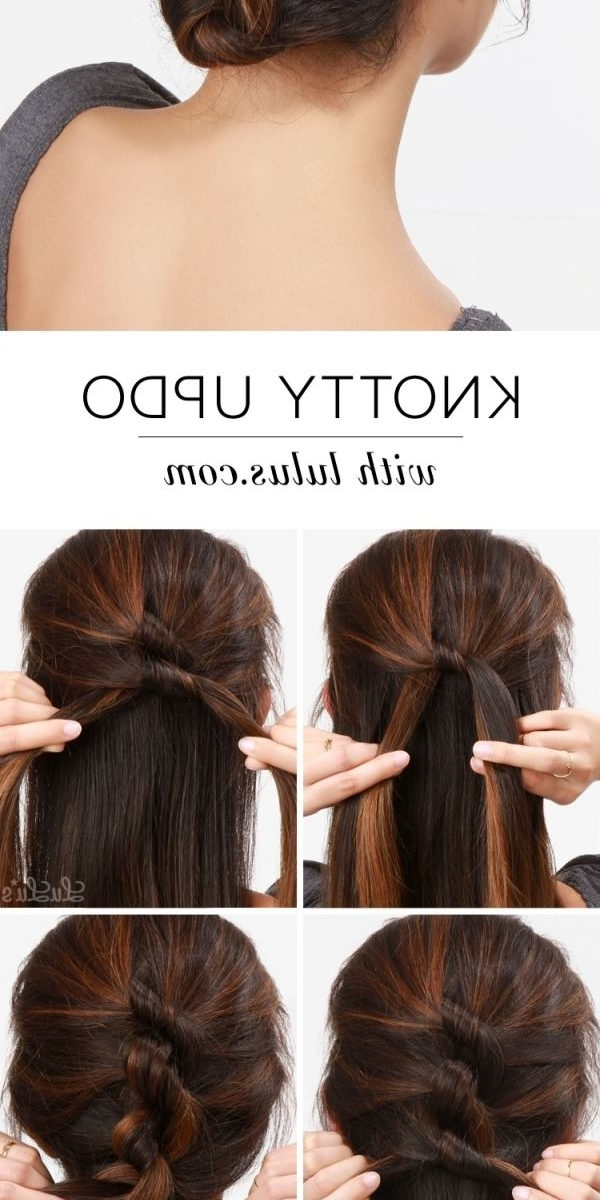 Easy Updo Hairstyles For Medium Hair Hairstyle Fodo Women Impressive For Most Recently Hair Updo Hairstyles For Thick Hair (View 9 of 15)