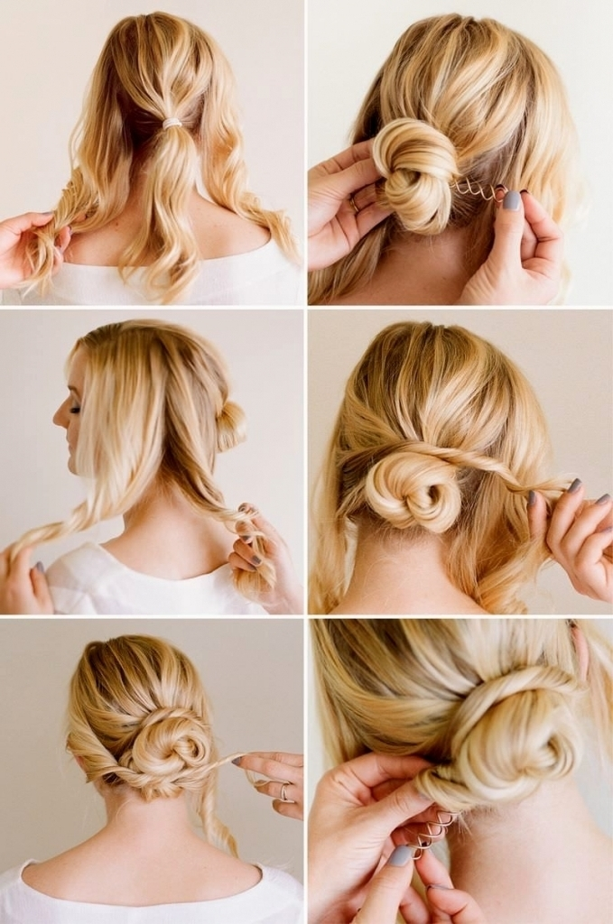 Easy Updo Hairstyles For Short Hair Easy Wedding Hairstyles For And Regarding Best And Newest Updo Hairstyles For Short Hair For Wedding (View 11 of 15)