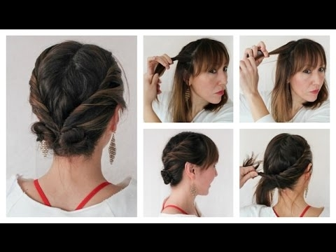 Easy Updo Hairstyles For Thin Hair – Youtube Throughout Recent Updo Hairstyles For Thin Hair (View 7 of 15)