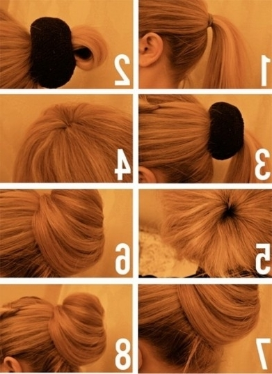 Easy Updo Tutorials For Thin Hair | Foto & Video Regarding With Newest Easy Updo Hairstyles For Thin Hair (View 9 of 15)