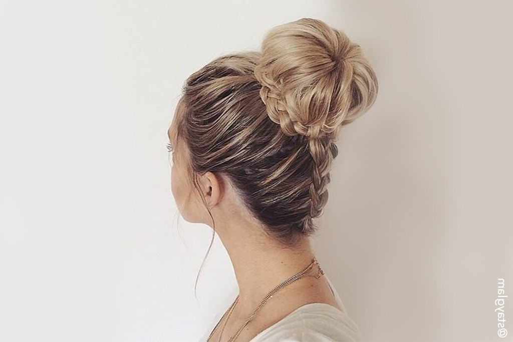 Easy Updos For Long Hair | Glam & Gowns Blog Throughout Most Recent Easy Updo Hairstyles For Long Thick Hair (View 10 of 15)