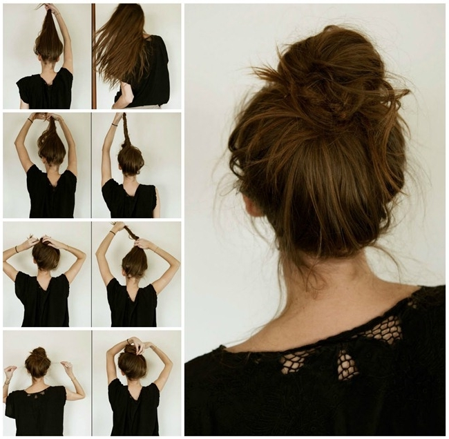 Easy Updos For Long Hair Stepstep To Do At Home In English 2018 In Most Recently Easy At Home Updos For Long Hair (View 10 of 15)