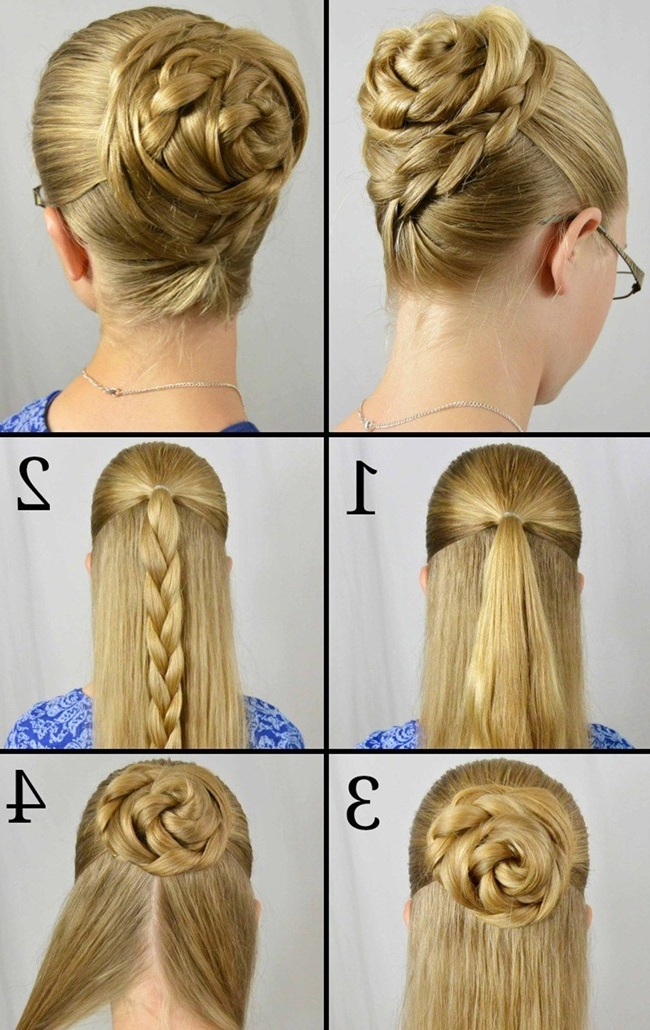 Easy Updos For Long Hair Stepstep To Do At Home In English 2018 Within Most Current Easy At Home Updos For Long Hair (View 11 of 15)