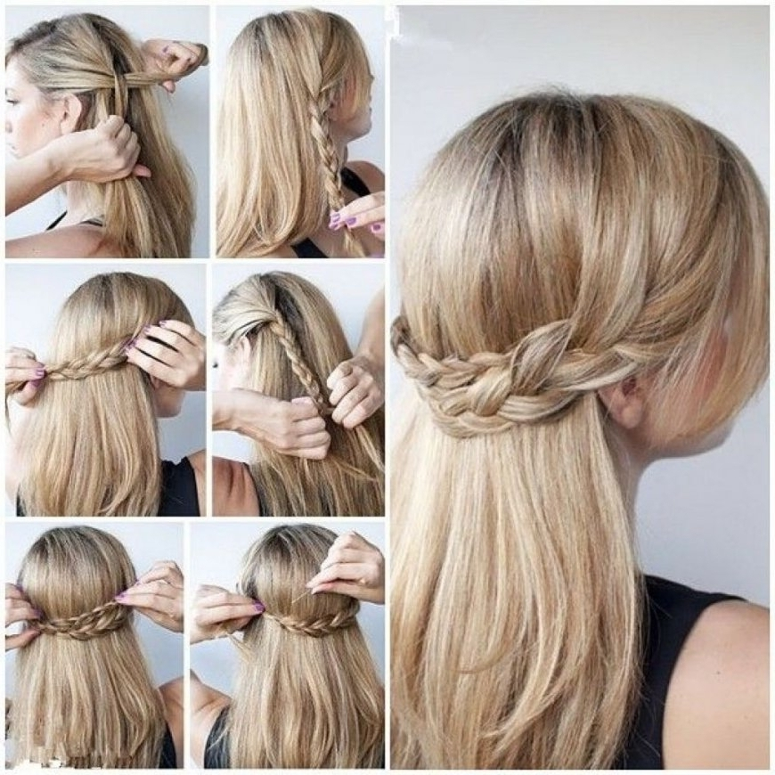 Easy Updos For Long Thick Hair Updo Hairstyles For Long Thick Hair Pertaining To Most Recently Updo Hairstyles For Thick Hair (View 8 of 15)