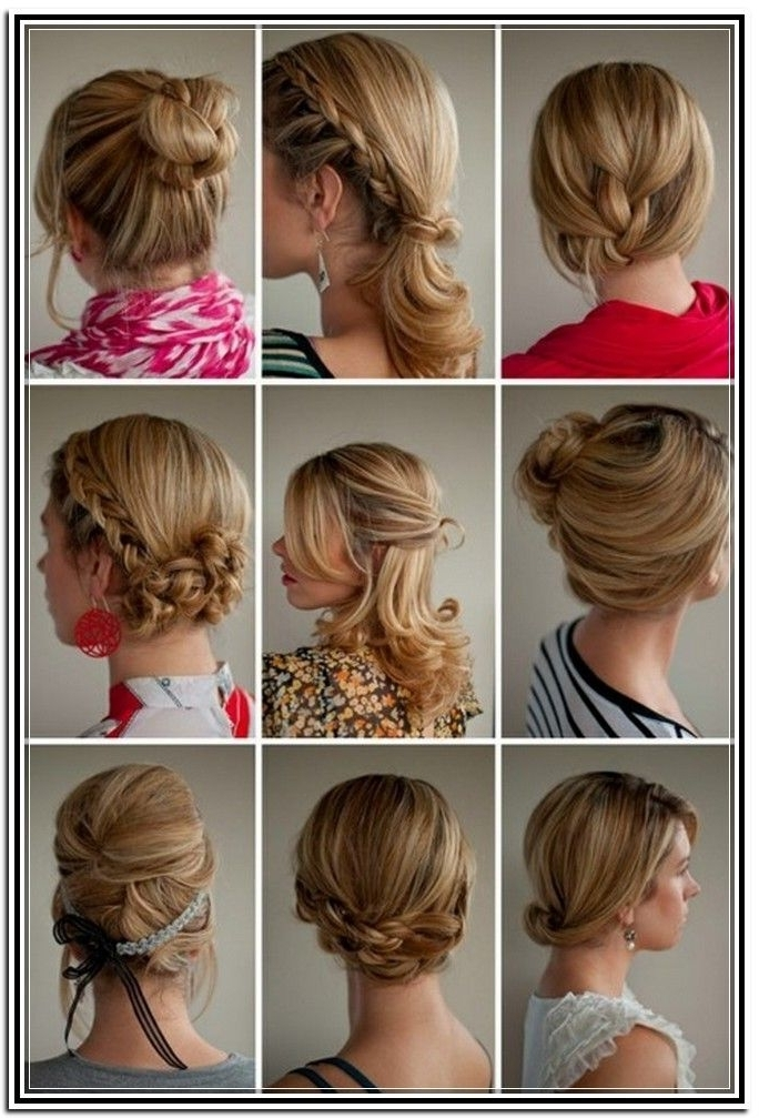 Easy Updos For Medium Length Hair Tutorial In Updos Hairstyles Easy Within Most Up To Date Easy Updo Hairstyles For Medium Length Hair (View 10 of 15)