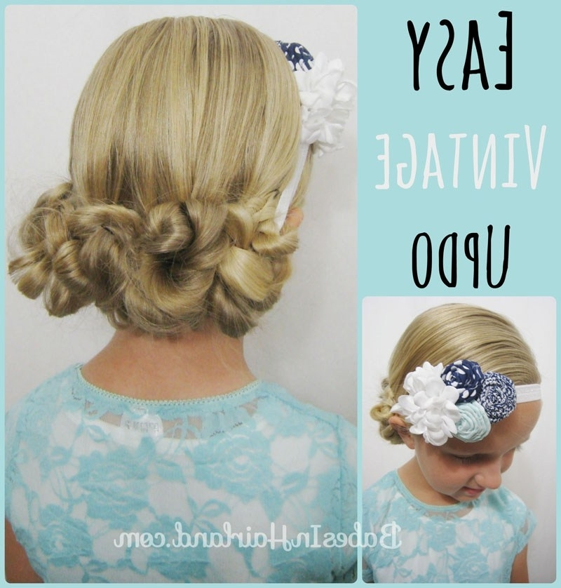 Easy Vintage Updo – Babes In Hairland Within Latest Easy Vintage Updo Hairstyles (View 8 of 15)