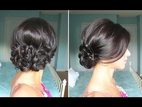 Elegant Braided Up Do – Youtube Throughout Best And Newest Luxy Updo (View 10 of 15)