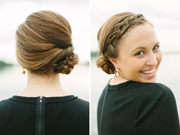 Elegant Hairstyles Braided Updo For Medium Length Hair Charm Pertaining To 2018 Fancy Updos For Medium Length Hair (View 12 of 15)