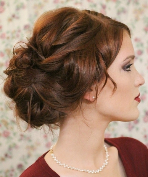 Elegant Loose Bun For Prom | Styles Weekly With Regard To Newest Loose Bun Updo Hairstyles (View 7 of 15)