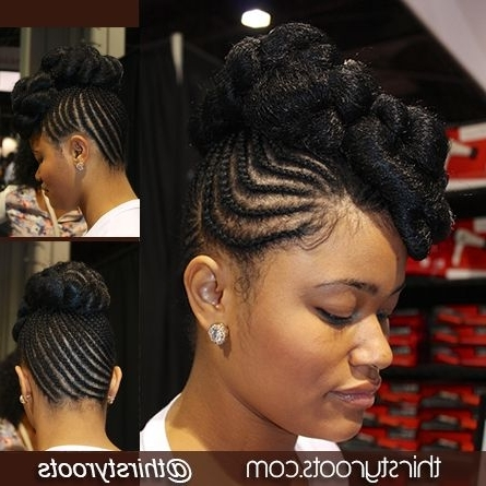 Elegant Protective Style | Black Braided Updo, Black Braids And Updo Throughout Most Current Quick Updo Hairstyles For Natural Black Hair (View 12 of 15)