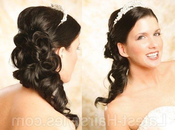 Elegant Side Ponytail Wedding Hairstyle Minus The Tiara (View 11 of 15)