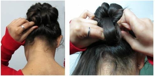 Elegant Updo For Indian Wear: Tutorial Regarding Most Current Indian Updo Hairstyles (View 8 of 15)