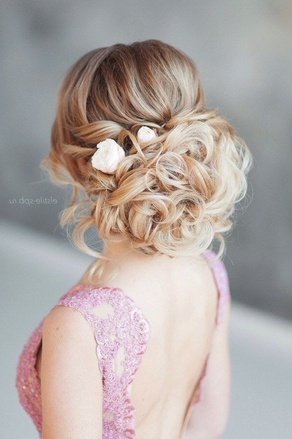 Elegant Wedding Hairstyles Part Ii: Bridal Updos | Tulle & Chantilly For Latest Bridal Updo Hairstyles (View 15 of 15)