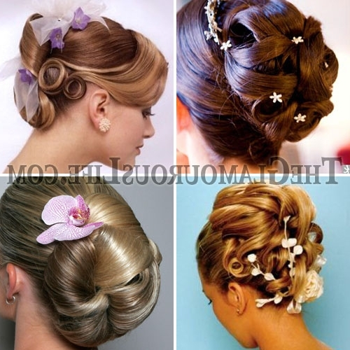 Encanto Celestial: Short Hair Bridal Updos Throughout 2018 Bridesmaid Hairstyles Updos For Short Hair (View 13 of 15)