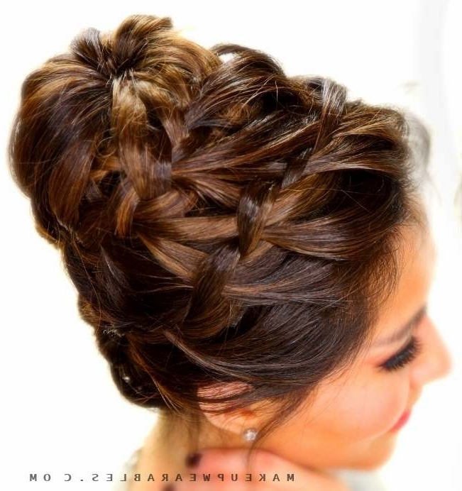 Epic Braid Bun Tutorial | Hairstyles For Long Medium Hair In Latest Braid Updo Hairstyles For Long Hair (View 10 of 15)