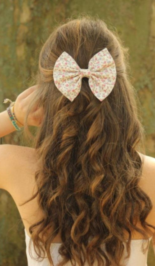 Everyday Hairdos For Medium Hair Bow Half Updo For Teenage Girls In Newest Teenage Updo Hairstyles (View 15 of 15)