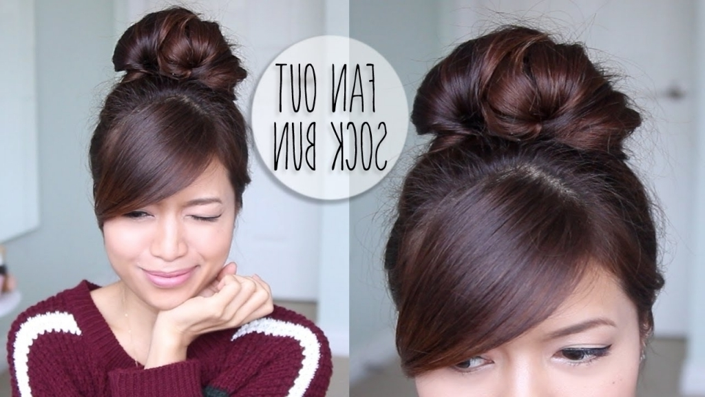 Everyday Updo Hairstyles Everyday Fan Sock Bun Updo Hairstyle For Pertaining To Most Recent Everyday Updo Hairstyles For Long Hair (View 11 of 15)