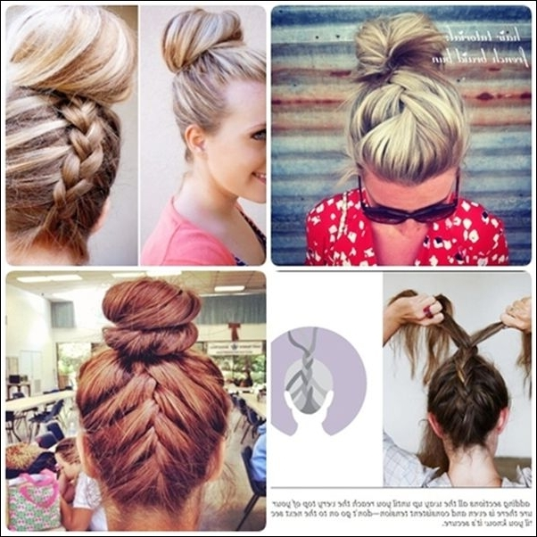 Extraordinary Cute Braided Hairstyles For Medium Length Hair About Within Most Popular Easy Updo Hairstyles For Shoulder Length Hair (View 12 of 15)