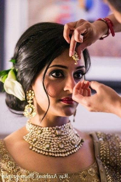 Famous Indian Bridal Updos (10) | Weddings Eve Within Most Up To Date Indian Wedding Updo Hairstyles (View 8 of 15)