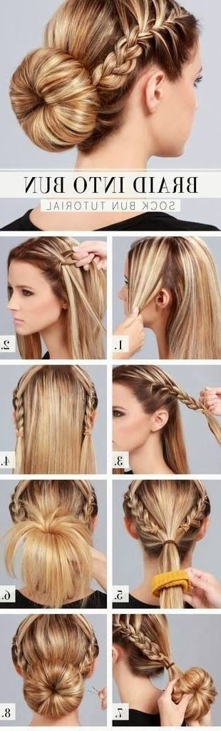 Fashionable Hairstyle Tutorials For Long Thick Hair – Pretty Designs In Best And Newest Diy Updo Hairstyles For Long Hair (View 10 of 15)