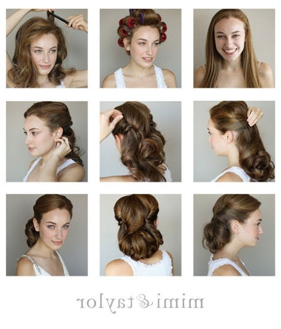 Fashionable Vintage Updo Hairstyle Tutorial | Styles Weekly In Latest Vintage Updo Hairstyles (View 15 of 15)