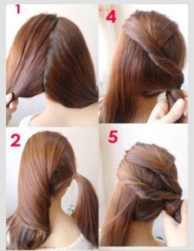 Fast Easy Hairstyles For Medium Hair Pretty Hairstyle Quick And Throughout Recent Super Easy Updos For Short Hair (View 14 of 15)