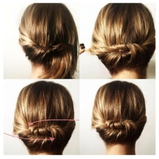 Fast Hairstyles For Shoulder Length Hair Quick Twist Updo Hairtyles Within Most Popular Quick Twist Updo Hairstyles (View 9 of 15)
